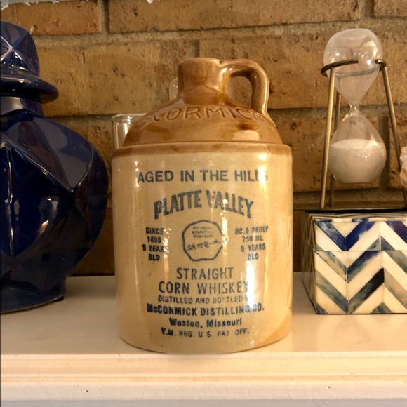 McCormick Other - McCormick Platte Valley Vintage Corn Whiskey Jug